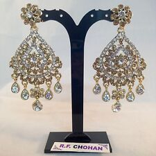 Diamante glamour Gold Fashion earrings,prom,party,brides, mehndi SV5-610G/W/LCT