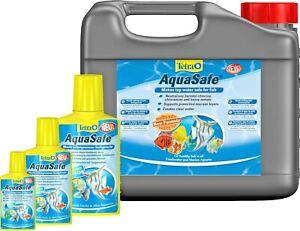 Tetra Aquasafe 50ml 100ml 250ml 500ml 5L Fish Tank Tap Safe Water Conditioner