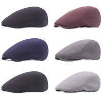 Men's Plain Cotton Cabbie Ivy Driving Flat Hat Newsboy Golf Beret Outdoor Cap