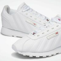 Reebok Mens Classic CL Oryx Athletic Running Shoes All White Leather EH1794 10.5
