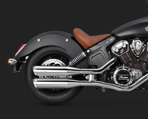 2015 Indian Scout Vance and Hines Classic Twin Slash Round Slip On Exhaust 18621