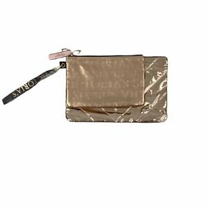 NWT Victoria's Secret Rose Gold Clutch and Make Up Bag