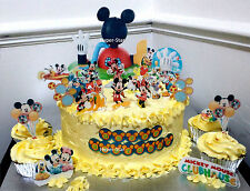 Mickey Mouse Club House Cup Cake Standup Scene Topper Wafer Edible Birthday