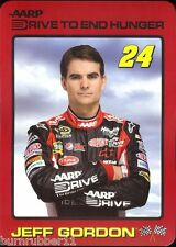 JEFF GORDON 2012 AARP DRIVE TO END HUNGER #24 NASCAR SPRINT CUP SERIES POSTCARD