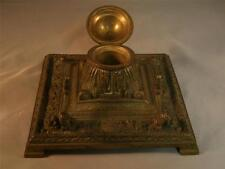 Vintage Edwardian Brass Desk Inkwell, Made in Germany