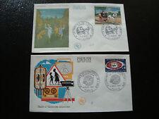FRANCE - 2 envelopes 1st day 1967 (congres ebu-henri rousseau) (cy18) french