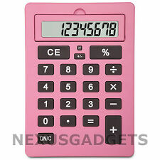 Liyo Giant Calculator Pink Extra Large Big Jumbo Huge Buttons 8 Digit LCD, New