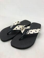 Havaianas Palm Tree Print Flip Flop Sandals Cream Black Men's Sz 11/12