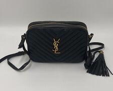 YSL Yves Saint Laurent Lou Camera Hip Bag 100% AUTH black leather handbag, New