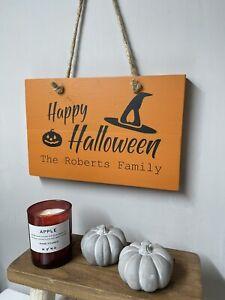 Halloween wooden sign, Happy Halloween sign, Personalised Halloween sign, Spook
