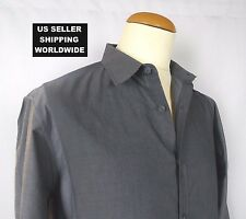 $325.00 Classic Style THEORY Cotton Grey Large Dress Shirt Please Make An Offer!