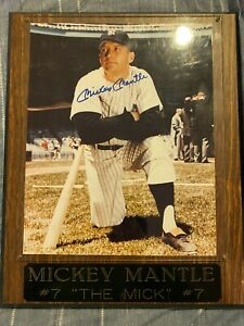 """Mickey Mantle """"The Mick"""" Signed Plaque With Authentication"""