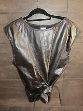 Ann Demeulemeester black leather top size 40 made in Belgium