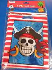 Pirate Parrot Skull Crossbones Kids Birthday Party Favor Treat Sacks Loot Bags