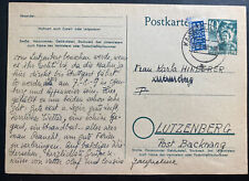 1949 Kaiserslautern Germany Postcard Postwar Cover to Lutzenberg