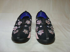 Christian DIOR Fusion Black and Pink Embroidered Sneakers Shoes Size 40