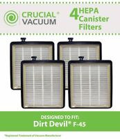 4 Replacements Dirt Devil Vacuum Cleaners F45 HEPA Canister Part # 2KQ0107000