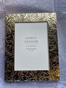 """Gisela Graham Fit Photo 7""""x 5"""" Stunning Gold Design Frame, Freestanding - 1103"""
