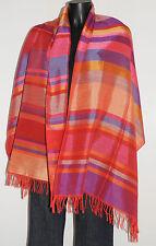 Etole écharpe foulard multicolore franges 182x63 Très bon état