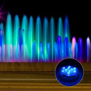 4x10RGB LED Unterwasserlampe Deko Licht Leuchten Pool Teich Lampen IP68 Aquarium