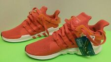 Adidas EQT Support ADV Men Size 9 Real Coral White Knit Running Shoes orange red