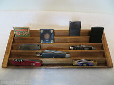 Knife, Case Knives, Matchbox, Lighter 5 Tier Stadium Wood Display-Walnut Stained