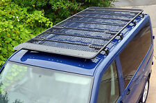 VW T5 Transporter Black Powder Coated Steel Heavy Duty Travel Roof Rack