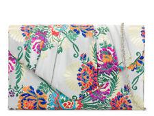 Ladies Floral Ethnic Satin Clutch Bag Cocktail Bag Party Evening Handbag KH2094