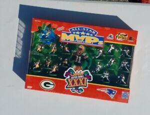 SUPER BOWL XXXI All-Star MVPs Packers Patriots 1997 NFL Figures Set NEW Galoob