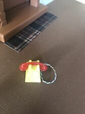 Renwal Rotary Phone Red Yellow Miniature Dollhouse vintage furniture accessories