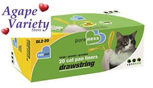 Van Ness Large Drawstring Valu-Pak Cat Pan 20 Count (Pack of 1), White
