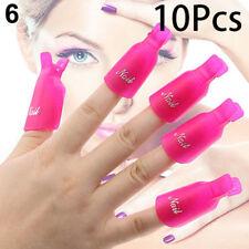 10Pcs/set Silicone UV Gel Polish Remover Wraps Soak Off Cap Clip Nail Art Tools