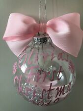 Personalised Baby's First 1st Christmas Bauble Girls-Boys Xmas Tree Decoration
