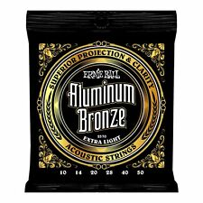 Ernie Ball Aluminium Bronze Acoustic Guitar Strings Extra Light 10-50