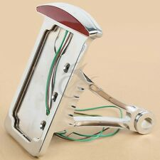 Side Mount Vertical License Plate Tail brake light for HD Harley Softail Custom