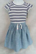 Girls Stripe Dress  Cat & Jack  Navy/White M 7/8