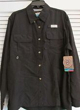 WOMENS LAGUNA MADRE BLACK  FISHING SHIRT LS  (XL)        (10)