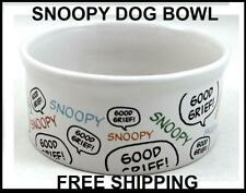 Peanuts Dog's Life Snoopy Good Grief Ceramic Pet Bowl FREE SHIPPING
