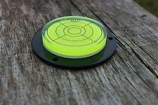 Flanged Spirit Bullseye Bubble Surface Level-  Circular Caravan Vial Round