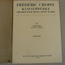 piano CHOPIN 9 Sonatas UE 349, signed by Eileen Joyce 1947