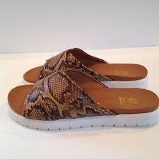 GC Shoes Women's New Yorker Sandals Tan/Snake (587) Size 9.5