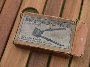 NICE BOXED VINTAGE WORKING GERMAN BARBERS ALCO BEARD CLIPPER HAIR TRIMMER