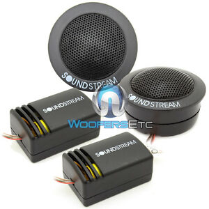 """TWS.1 SOUNDSTREAM CAR AUDIO 1"""" SOFT DOME TWEETERS & CROSSOVERS FLUSH ANGLE MOUNT"""