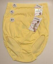 NWT 3 Jockey Seamfree Breathe Brief Panties 1881 Crystal Yellow Size 6