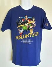 2015 COMIC-CON - San Diego VOLUNTEER Blue T-Shirt Size: Large