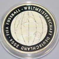 10 EURO Bundesrepublik Deutschland FIFA Fußball WM 2006 Polierte Platte