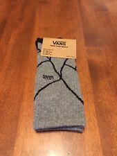 Vans X Marvel Crew Socks Spiderman Grey Boy's Shoe Size 1-6 One Pair