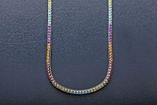 """H Stern Signed $10,000 15ct Pink Tourmaline Peridot 18k White Gold 18"""" Necklace"""