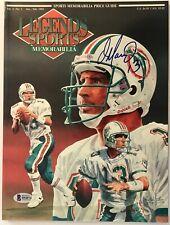Dan Marino signed legends magazine miami dolphins nfl beckett coa