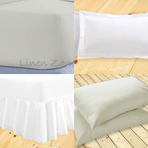 Non Iron Hotel Quality Fitted Bed Sheets Single Double King Super King